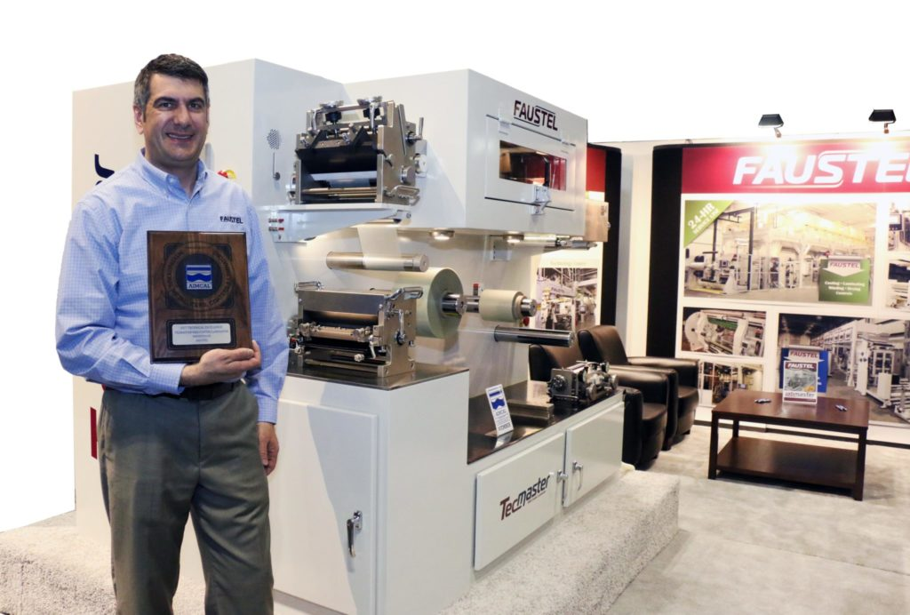 AIMCAL honored Faustel's TecMaster with an award in their 2017 Technology of the Year competition.