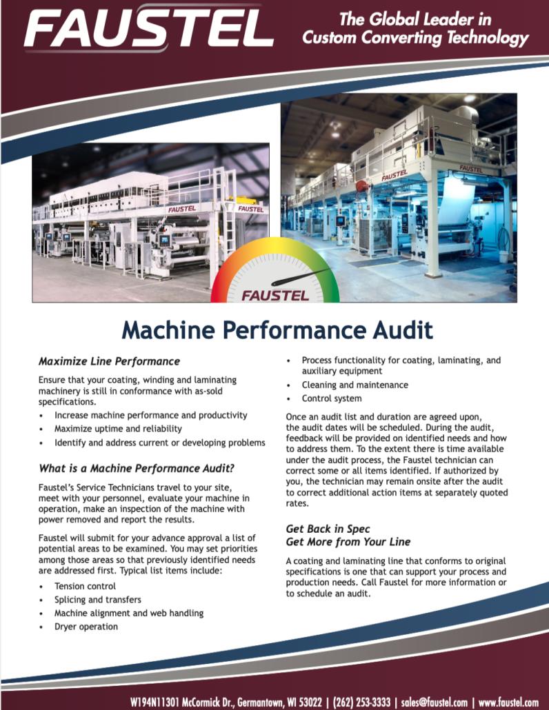 Machine Performance Audit
